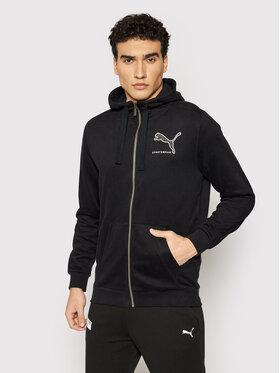 Puma Puma Sweatshirt Athletics Fz 585761 Schwarz Regular Fit