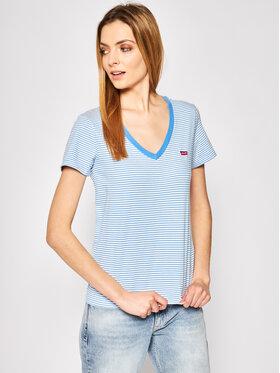 Levi's® Levi's® T-shirt The Perfect V Neck 85341-0001 Bleu Regular Fit