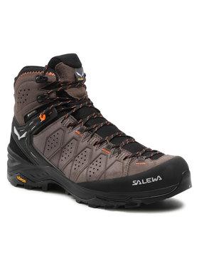 Salewa Salewa Trekingová obuv Ms Alp Trainer 2 Mid Gtx GORE-TEX 61382-7512 Hnědá