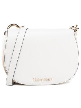 Calvin Klein Calvin Klein Sac à main Ck Chain Saddle Bag K60K606686 Blanc