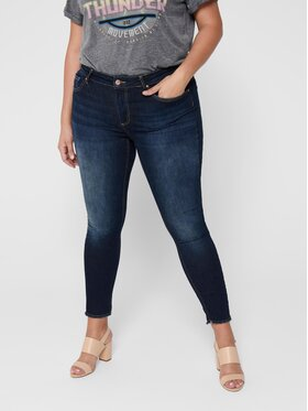 ONLY Carmakoma ONLY Carmakoma Jeansy Willy Life 15212253 Granatowy Skinny Fit