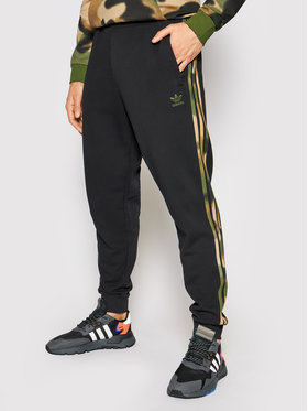 adidas adidas Παντελόνι φόρμας Camo GN1861 Μαύρο Fitted Fit