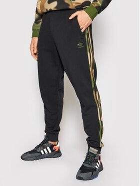 adidas adidas Teplákové kalhoty Camo GN1861 Černá Fitted Fit