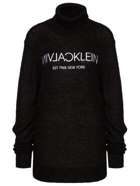 Calvin Klein Calvin Klein Garbó Plusch Logo K10K106407 Fekete Regular Fit