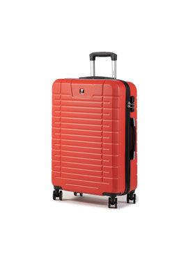 Dielle Dielle Közepes keményfedelű bőrönd 91/60 Piros