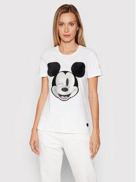 Fracomina Fracomina T-Shirt FD21WT3001J40108 Weiß Regular Fit