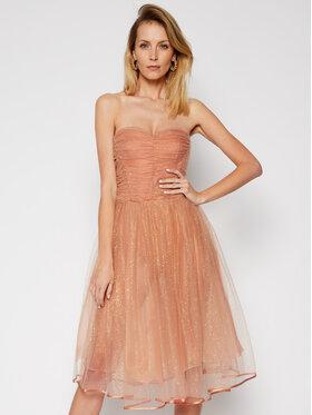 Elisabetta Franchi Elisabetta Franchi Коктейлна рокля AB-067-07E2-V469 Розов Slim Fit