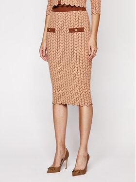 Elisabetta Franchi Elisabetta Franchi Puzdrová sukňa GK-19S-06E2-V269 Hnedá Slim Fit