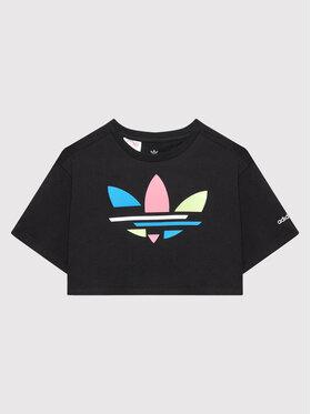 adidas adidas T-Shirt adicolor Cropped H32349 Czarny Loose Fit