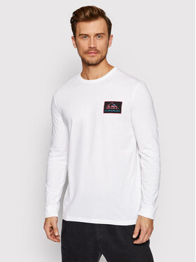 Quiksilver Quiksilver Тениска с дълъг ръкав Return To The Moon EQYZT06552 Бял Regular Fit