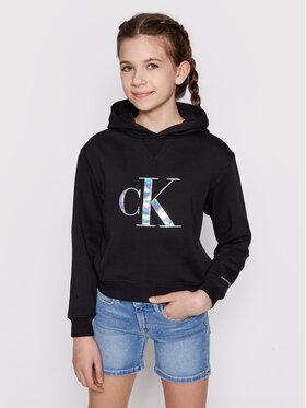 Calvin Klein Jeans Calvin Klein Jeans Sweatshirt Monogran Applique Hoodie IG0IG00987 Schwarz Regular Fit