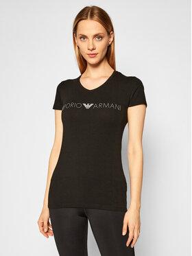 Emporio Armani Underwear Emporio Armani Underwear Póló 163321 0A317 00020 Fekete Regular Fit