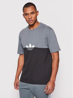 adidas adidas T-Shirt adicolor Sliced Trefoil Boxy Tee GN3504 Μαύρο Regular Fit