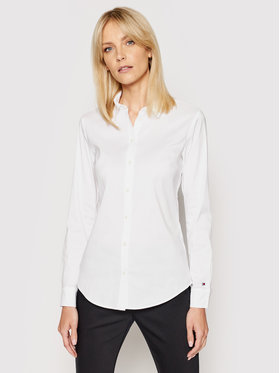 Tommy Hilfiger Tommy Hilfiger Риза Heritage Regular Fit Shirt 1M87647510 Бял Slim Fit