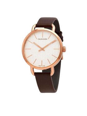 Calvin Klein Calvin Klein Часовник Even K7B236G6 Кафяв