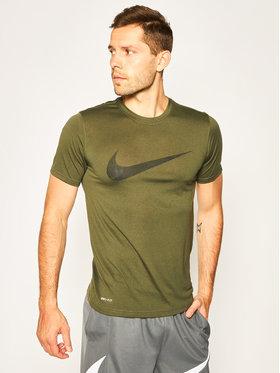 Nike Nike Technikai póló Dri-FIT Legend Swoosh Tee CK4250 Zöld Standard Fit