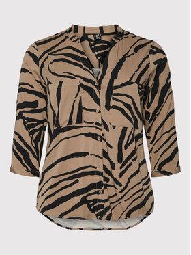 Vero Moda Curve Vero Moda Curve Koszula Zee 10257512 Brązowy Regular Fit