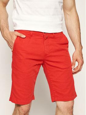 Pierre Cardin Pierre Cardin Szorty materiałowe 3465/2040 Czerwony Tailored Fit