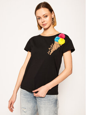 LOVE MOSCHINO LOVE MOSCHINO T-shirt W4F301XE 1698 Noir Regular Fit