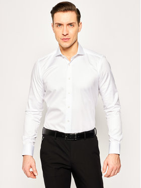 Emanuel Berg Emanuel Berg Риза Harvard PEB 47809 Бял Slim Fit