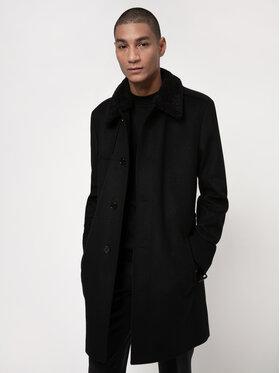 Hugo Hugo Vlnený kabát Menego2111 50448575 Čierna Regular Fit