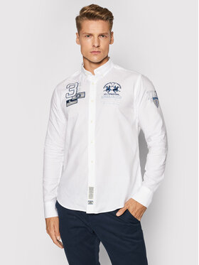 La Martina La Martina Koszula SMC302 OX077 Biały Regular Fit
