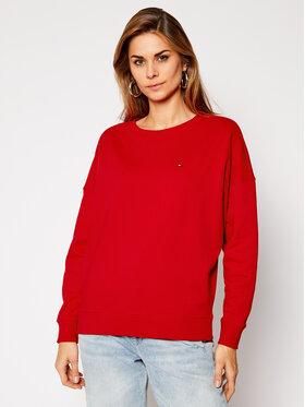 Tommy Hilfiger Tommy Hilfiger Sweatshirt Open-Nk WW0WW29380 Rot Oversize