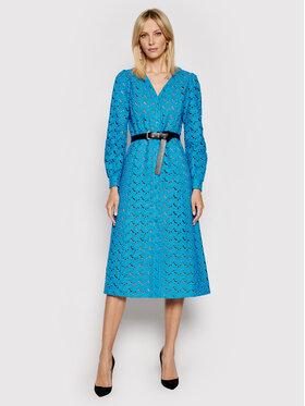MICHAEL Michael Kors MICHAEL Michael Kors Každodenní šaty Kate MS18Y461FU Modrá Regular Fit