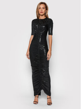ROTATE ROTATE Večernja haljina Abigail Dress RT623 Crna Slim Fit