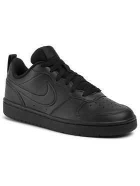 Nike Nike Boty Court Borough Low 2 (GS) BQ5448 001 Černá