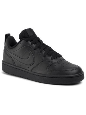 Nike Nike Обувки Court Borough Low 2 (GS) BQ5448 001 Черен