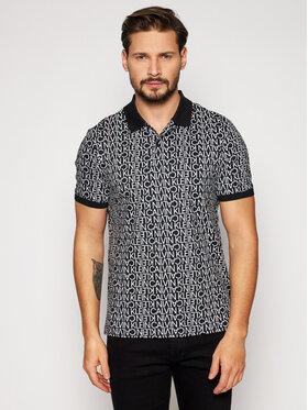 Calvin Klein Calvin Klein Тениска с яка и копчета Liquid Touch Allover Logo K10K107266 Черен Regular Fit