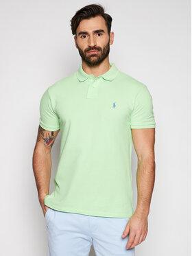 Polo Ralph Lauren Polo Ralph Lauren Тениска с яка и копчета 710536856278 Зелен Slim Fit