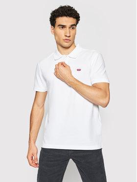Levi's® Levi's® Тениска с яка и копчета Standard Housemarked 35883-0003 Бял Regular Fit