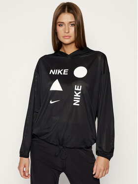 NIKE NIKE Techninis džemperis Icon Clash CJ5284 Juoda Loose Fit