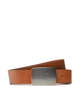 Calvin Klein Calvin Klein Ceinture homme Rounded Plaque Belt 35mm K50K507067 Marron