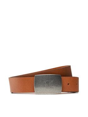 Calvin Klein Calvin Klein Pánsky opasok Rounded Plaque Belt 35mm K50K507067 Hnedá