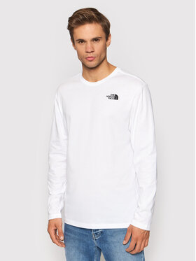 The North Face The North Face Longsleeve Red Box NF0A493L3D31 Biały Regular Fit
