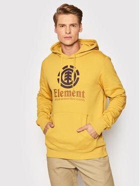 Element Element Bluza Vertical U1HOB3 Żółty Regular Fit