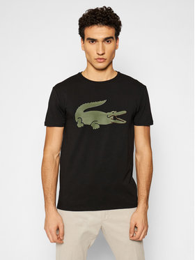 Lacoste Lacoste T-shirt TH0139 Crna Slim Fit