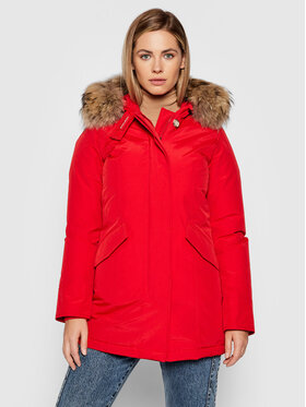 Woolrich Woolrich Zimska jakna Arctic Raccoon CFWWOU0538FRUT0001 Crvena Regular Fit
