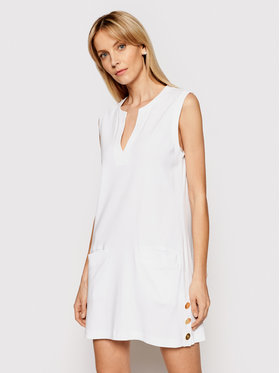 Lauren Ralph Lauren Lauren Ralph Lauren Φόρεμα παραλίας LR8F553E Λευκό Regular Fit