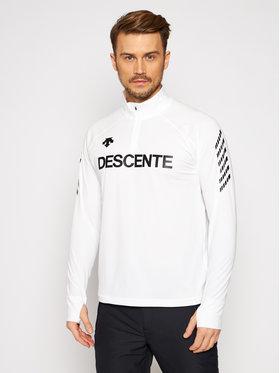 Descente Descente Funkčná mikina ¼ Zip DWMQGB25 Biela Regular Fit