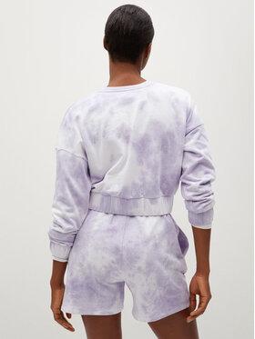 Mango Mango Bluză Tie 87077635 Violet Regular Fit