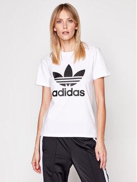 adidas adidas T-Shirt adicolor Classics Trefoil GN2899 Bílá Regular Fit