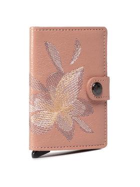 Secrid Secrid Μικρό Πορτοφόλι Γυναικείο Miniwallet MSt Stitch Magnolia Ροζ