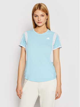 adidas adidas T-shirt technique Own The Run 3-Stripes Iteration GK5277 Bleu Regular Fit