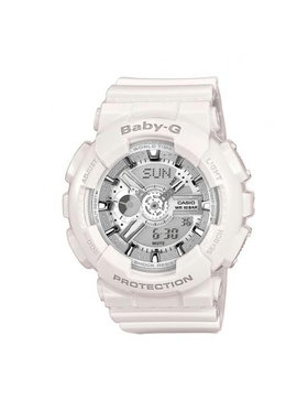 Baby-G Baby-G Zegarek BA-110-7A3ER Biały