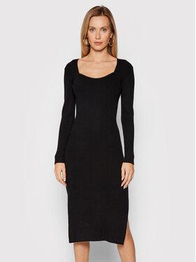 Fracomina Fracomina Плетена рокля F321WD5012K48101 Черен Slim Fit