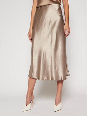 Max Mara Leisure Max Mara Leisure Midi sijonas Alessio 31060106 Smėlio Regular Fit